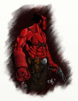 Pintura Hellboy by BSilustracoes