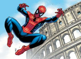 spidey in rome by deemonproductions