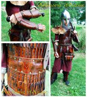 Fantasy Lamellar for LARP by ArtisansdAzure