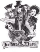 Johnny Depp collage by cb92