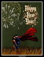 Superman and Wonder Woman - A New Year by GabeCurly
