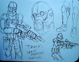 TheCH's TACTICAL SPACE MARINE by PhiTuS