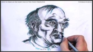 Draw An Old Man's Face In Two Point Perspective 45 by drawingcourse