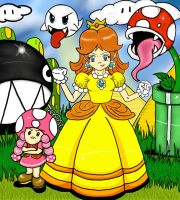 Fully colored Princess Daisy by TheriaRose