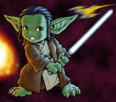 Young Yoda for Color-Off by icoman