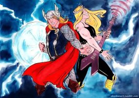 Thor -VS- Val Hallen by ChocolateIsForever