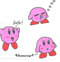 doodles of Kirby by cmara