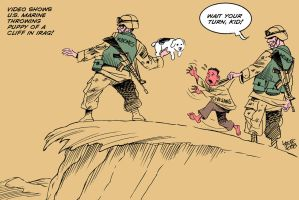 The bravery of U.S. Marines by Latuff2