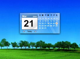 Glass Calendar Desklet by chuckdobaba