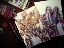 Bumblebee and war  drawings by iEvgeni