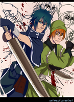 Sasuke and Saizo by BloodSttar