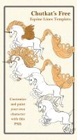Free Equine Lineart Template by chutkat