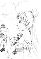 SM:Princess Serenity by anuhesut