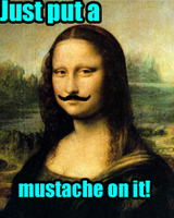 Just put a mustache on MONA LISA by blitz-paranoia