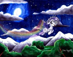 Soaring Through the Night by frostykat13