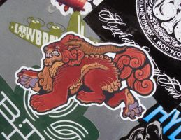 Foo Dog sticker by missmonster