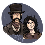 Commission: Amelia and Bill Strivler by Silverlykta