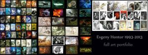 Full art portfolio 1993-2013 by hontor