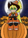 Princess of the Pumpkin Patch by LunaClefairy