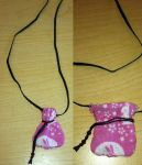 Pink Moon Bunny Print Necklace Bag 2 views by Spider-Spindle