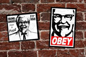 Shepard Fairey eats at KFC by robertllynch