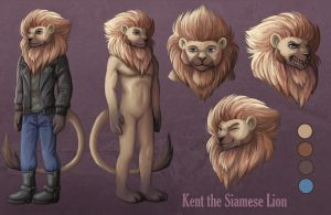 Kent the Siamese Lion Reference Sheet by sushy00