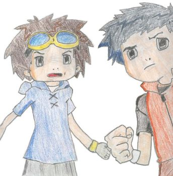 Takato and Henry - Digimon by ligerxero