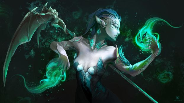 Guild Wars 2 - Sylvari Necromancer by Sefokusu