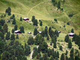 Huts in the valley by edelweiss26