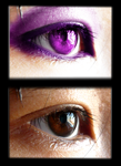 Purple eye edited by chillydragon