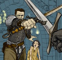 Half Orc Defender by mysterycycle