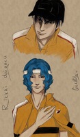 Yukimura and Sanada sketch by GerVOlg