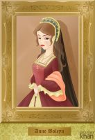 Anne Boleyn (2nd wife of Henry VIII) by ArsalanKhanArtist