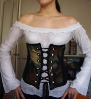 Military corset by skinywitch