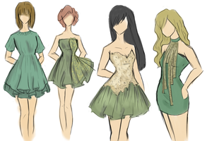Green classy fashion by aqualin09