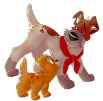 Oliver and company by TobyKitten