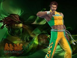 Wallpaper Tekken: Eddy Gordo by shirotsuki-hack