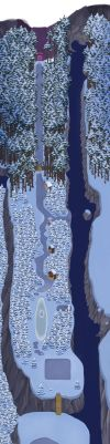 Undertale Map - Snowdin Forest by oennarts