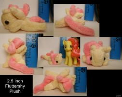 Ultra tiny Fluttershy plush by TheNoTalentLoser