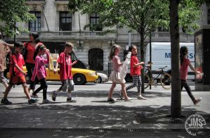 Children Parading By by steeber