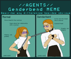 Agents Genderblender Meme by Angel-Uriel