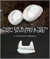 Toony Eye Blanks and Teeth Now Available on Etsy! by Tsebresos