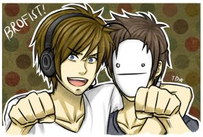 Pewdie and Cry: Brofist by TaiyakiDesu
