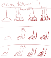 paw tutorial by rattlesnake12