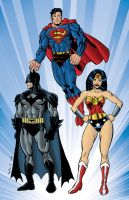 DC Trinity Color by NinjaSpidey