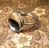 Sterling Silver Concave Disc Ring by Utinni