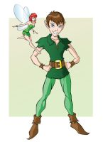 Peter Pan and Tinkerbell by GavinMichelli
