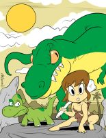 The Girl Who Tamed Dinosaurs by luismario