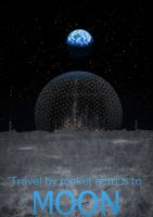 Travel Poster: Moon by DM7