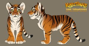 Kinectimals tiger turnarounds by shoomlah